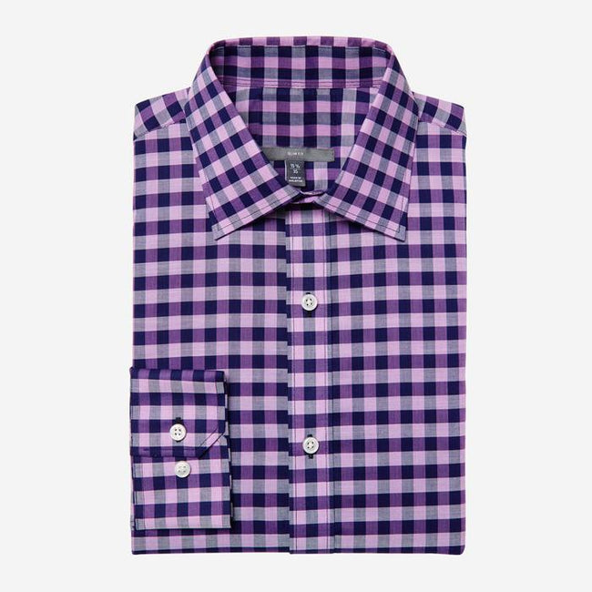 Bespoke - Purple Check Shirt