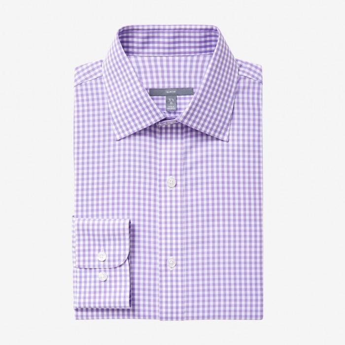 Bespoke - Medium Lilac Gingham Shirt