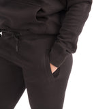 Ladies Shadow Tracksuit (Hoodie and Joggers) - Black