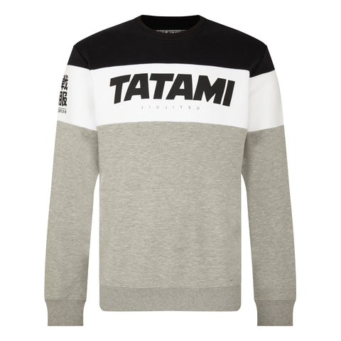 Essential Tri Panel Sweatshirt - Grey
