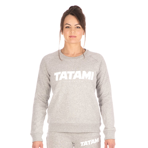 Ladies Essential Sweat Shirt - Heather Grey