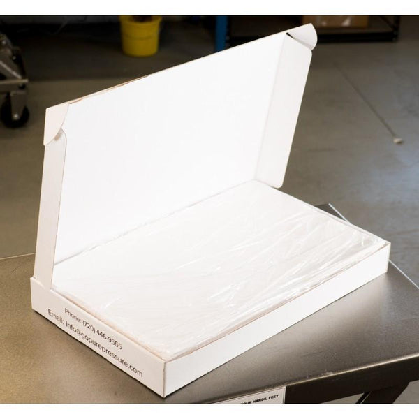 "PurePressure 35lb 12"" x 20"" Ultra Bake Parchment Paper for Rosin Extraction Box Open Shot"