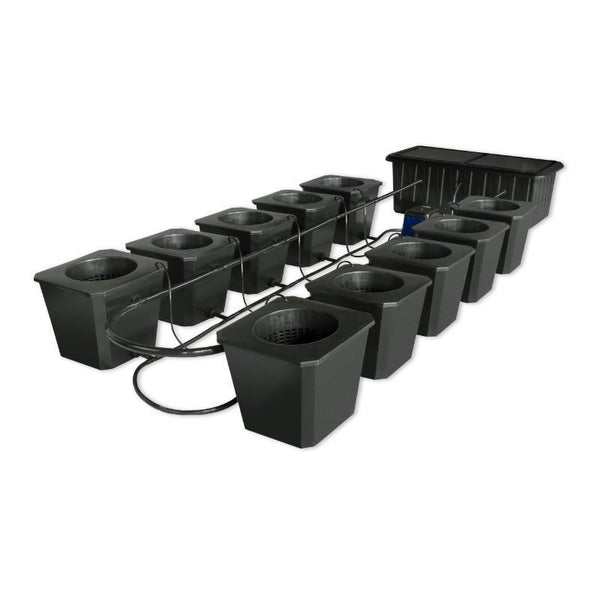 SuperPonics Bubble Flow Bucket 10 Site Hydroponic Grow System by SuperCloset