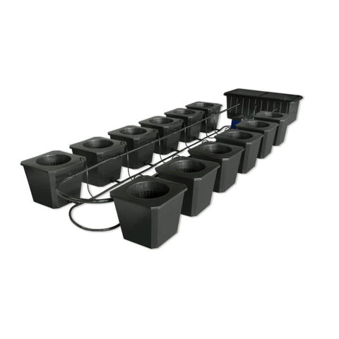 SuperPonics Bubble Flow Bucket 12 Site Hydroponic Grow System by SuperCloset