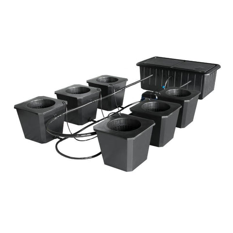 SuperPonics Bubble Flow Bucket 6 Site Hydroponic Grow System by SuperCloset