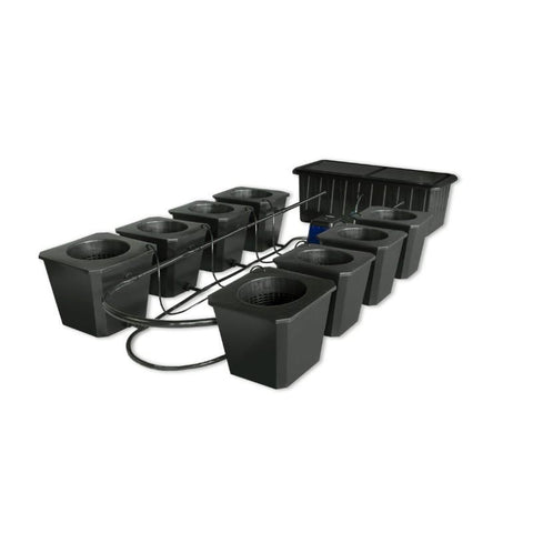 SuperPonics Bubble Flow Bucket 8 Site Hydroponic Grow System by SuperCloset