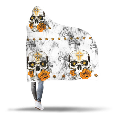 SMOKY SKULL HOODED BLANKET - 1Gconnect