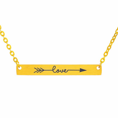 Gorgeous Daily Inspiration Wanderlust Adjustable Bar Necklace - 1Gconnect