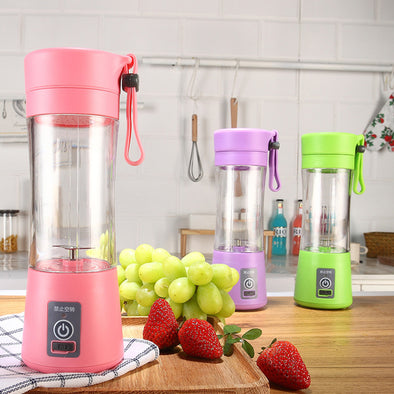 380ML Portable USB Electric Juicer with 2 Vanes - 1Gconnect