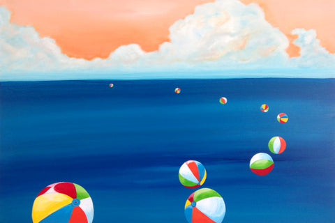 Beach balls at Sea