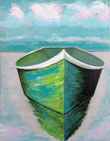 Green boat - SOLD