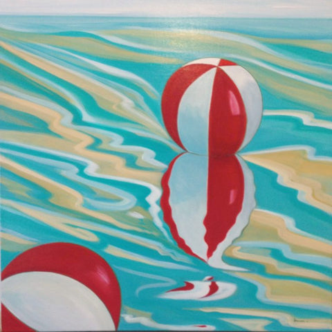 Beach ball reflection