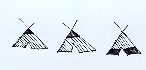 Three Teepees - SOLD