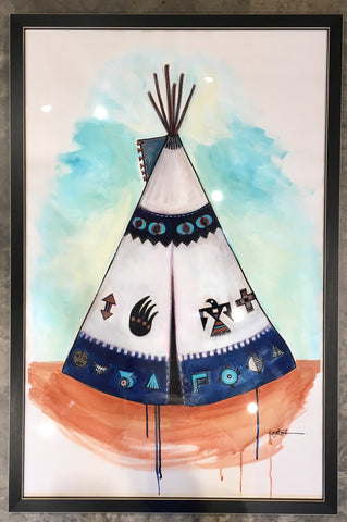 Teepee - Original watercolor