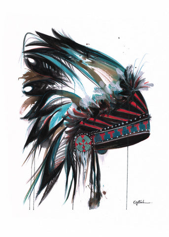Headdress #1 -  Greeting Card