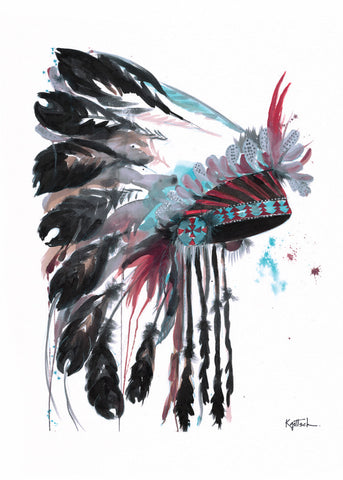 Headdress #2 -  Original Watercolor