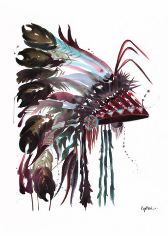 Headdress #3 -  Greeting Card