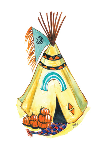 Harvest Teepee -  Greeting Card