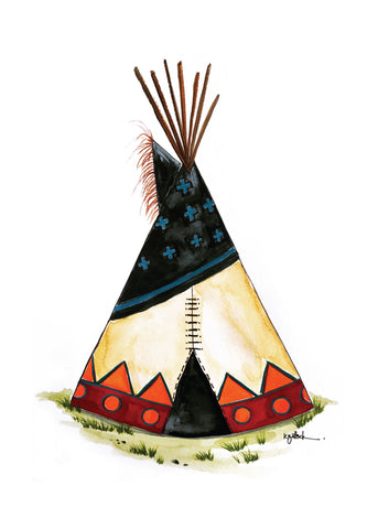Night Sky Teepee - Greeting Card