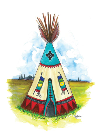 Shaman's Teepee - Greeting Card