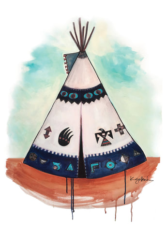 Teepee - Greeting Card