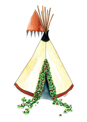 Welcome Home Teepee -  Original Watercolor