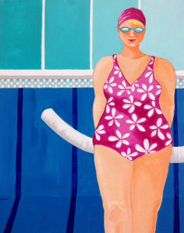 Swimmer with noodle - SOLD