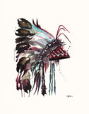 Headdress #3 -  Original Watercolor