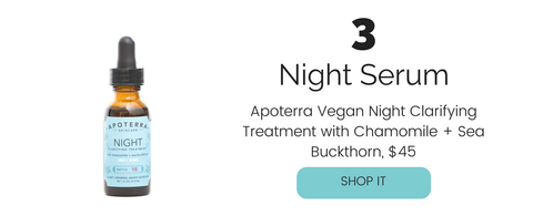 Apoterra Vegan Night Clarifying Treatment with Chamomile + Sea Buckthorn