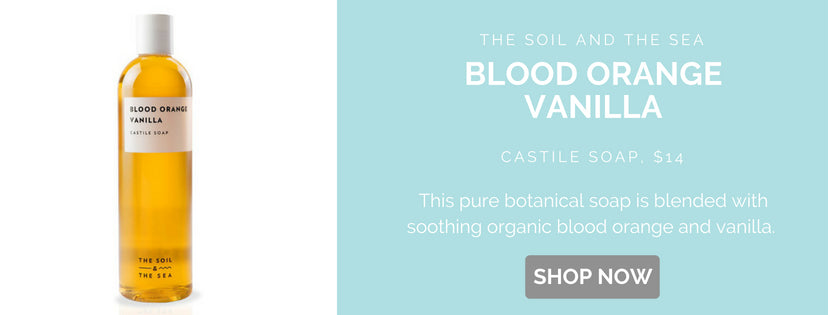This pure botanical soap is blended with soothing organic blood orange and vanilla. Cruelty-free, vegan, and gluten-free.
