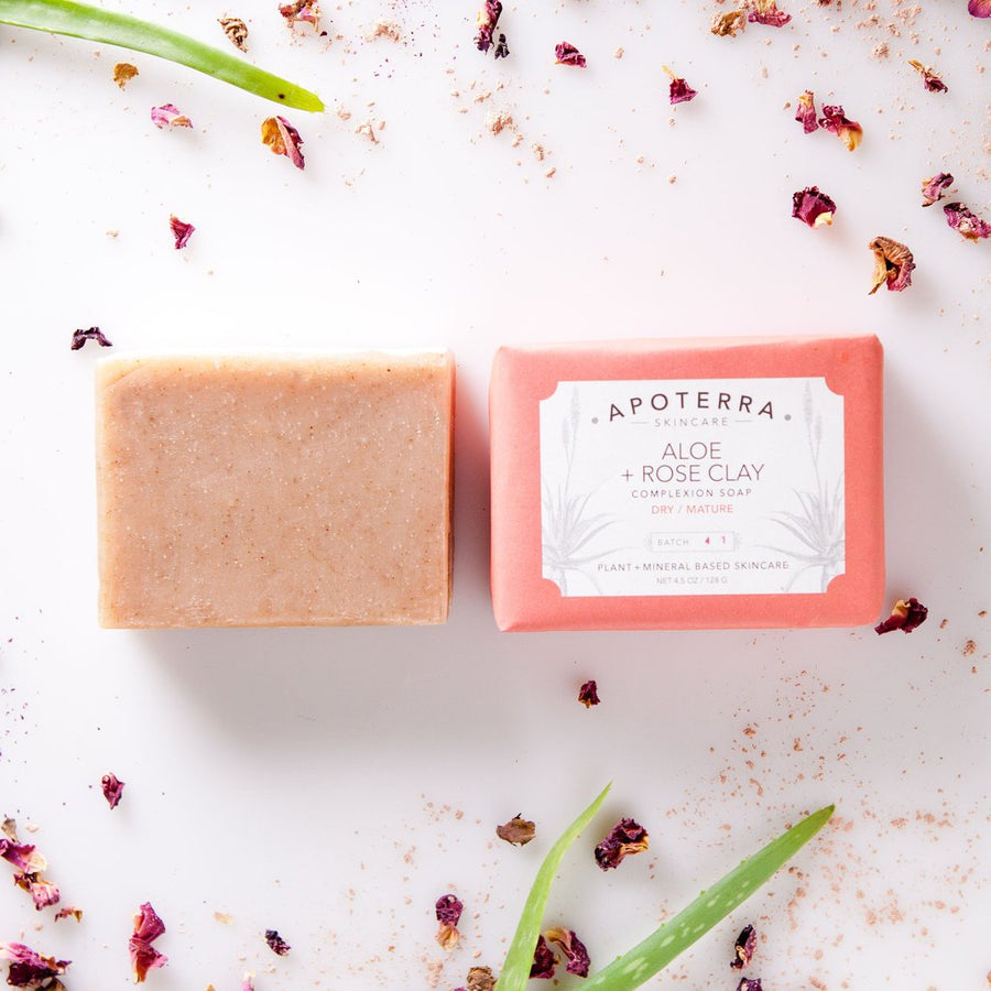 Aloe + Rose Clay Vegan Complexion Bar Soap