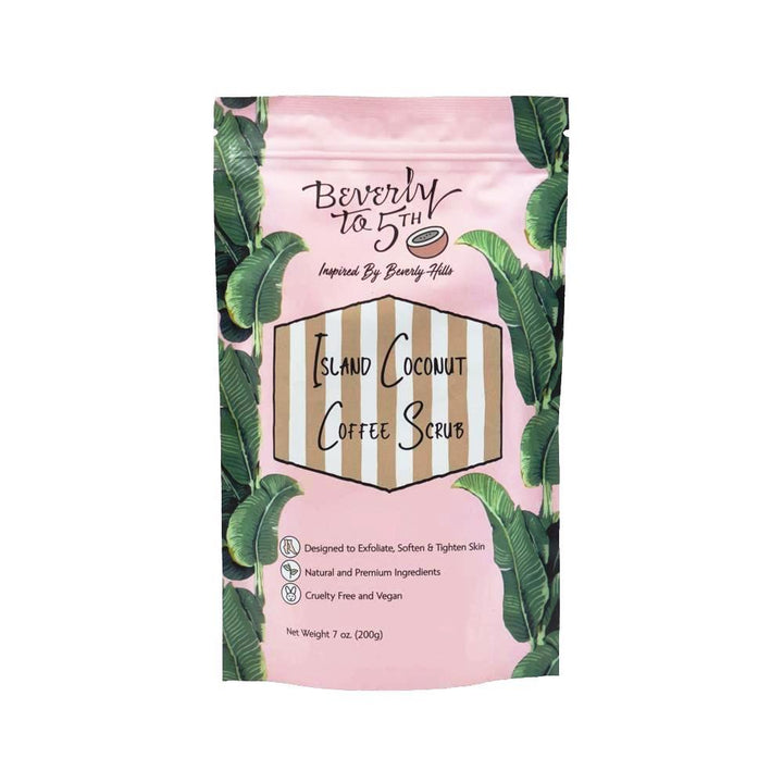 Beverly to 5th Island Coconut Vegan Coffee Scrub - Good Cubed Cruelty Free Online Beauty Marketplace