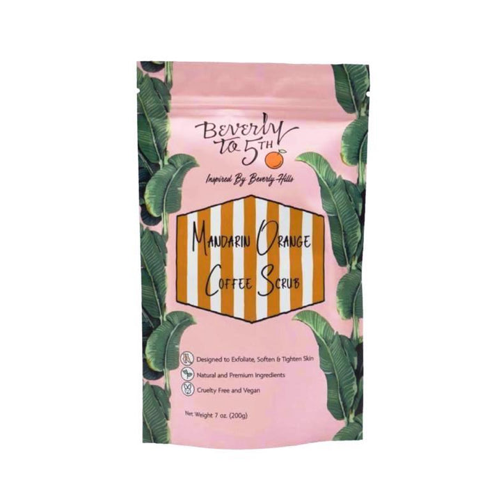 Beverly to 5th Mandarin Orange Vegan Coffee Scrub - Good Cubed Cruelty Free Online Beauty Marketplace