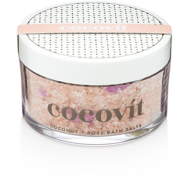 Cocovit Coconut and Rose Vegan Bath Salts - Good Cubed Cruelty Free Online Beauty Marketplace