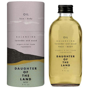 Daughter of the Land Balancing Lavender and Wood Face and Body Oil - Good Cubed Cruelty Free Online Beauty Marketplace