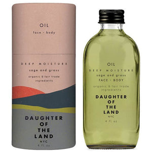 Daughter of the Land Deep Moisture Sage and Grass Face and Body Oil - Good Cubed Cruelty Free Online Beauty Marketplace
