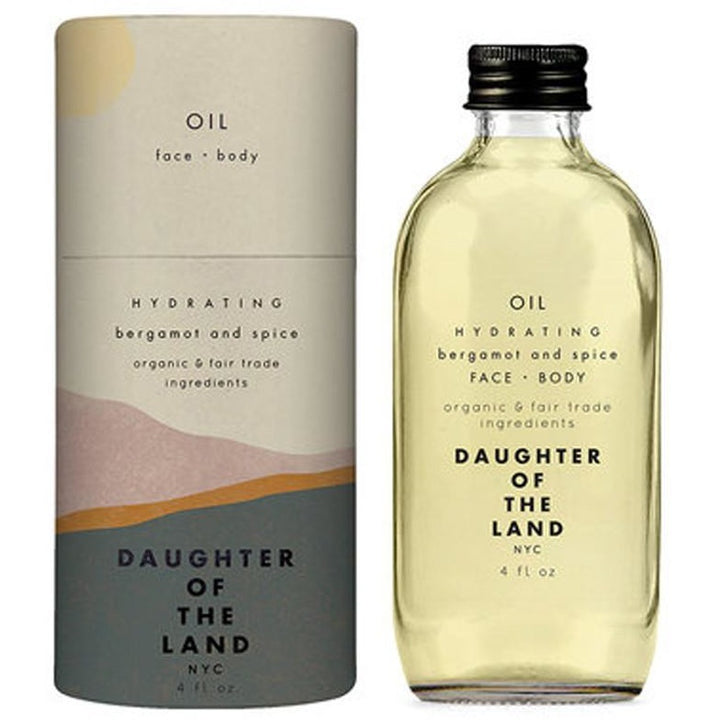 Daughter of the Land Hydrating Bergamot and Spice Face and Body Oil - Good Cubed Cruelty Free Online Beauty Marketplace