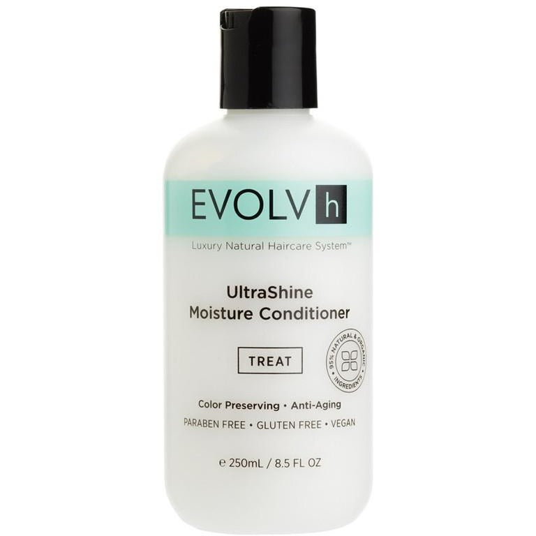 Evolvh UltraShine Vegan Moisture Conditioner - Good Cubed Cruelty Free Online Beauty Marketplace