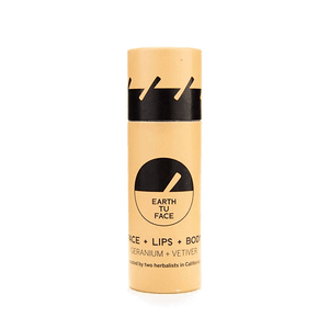 Earth Tu Face Geranium and Vetiver Vegan Skin Stick - Good Cubed Cruelty Free Online Beauty Marketplace