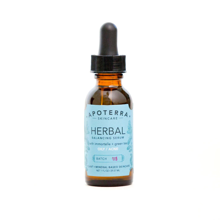 Apoterra Vegan Herbal Balancing Serum with Immortelle + Green Tea - Good Cubed Cruelty Free Online Beauty Marketplace