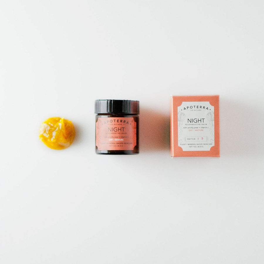 Apoterra Night Regenerative Balm with Prickly Pear and Vitamin C - Good Cubed Cruelty Free Online Beauty Marketplace