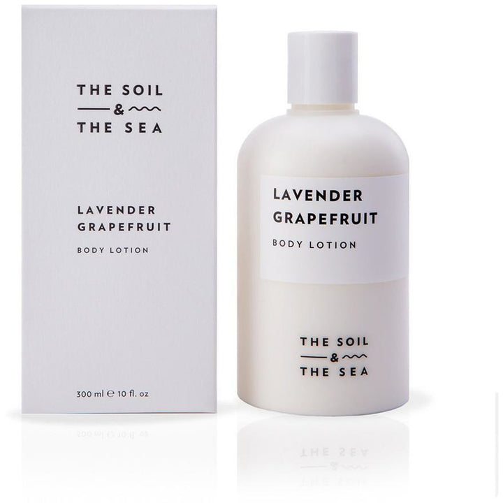 The Soil and The Sea Lavender Grapefruit Vegan Body Lotion - Good Cubed Cruelty Free Online Beauty Marketplace