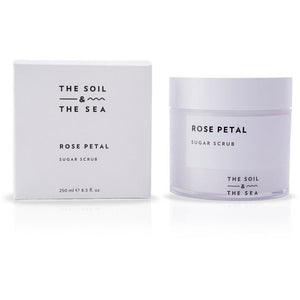The Soil and The Sea Rose Petal Vegan Sugar Scrub - Good Cubed Cruelty Free Online Beauty Marketplace