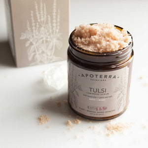 Tulsi Vegan Luminous Scrub with Lavender + Pink Sea Salt