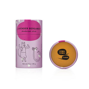 Meow Meow Tweet Lavender Bergamot Vegan Deodorant Stick - Good Cubed Cruelty Free Online Beauty Marketplace