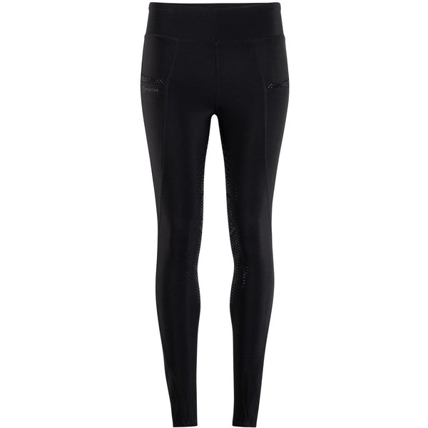 Montar Linnea Mon-ShapeTight Pull-On Tights - Black, Kneegrip