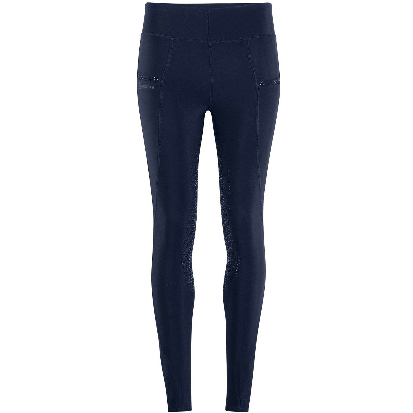 Linnea Mon-ShapeTight Pull-On Tights - Navy, Kneegrip