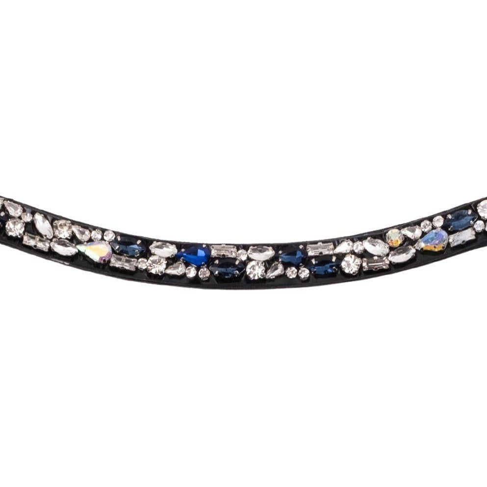 Montar Moonrock Clear/Black/Blue Browband