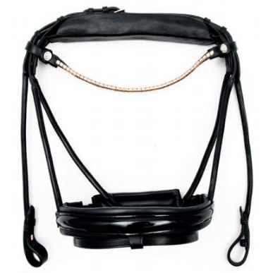 Finesse Single Bridle Black/Black - Lacquer - Rosegold
