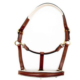 Finesse Halter Brown/Beige - Gold